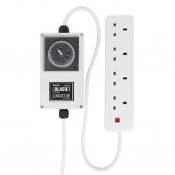 Lumii Black 4 Way Contactor with Timer
