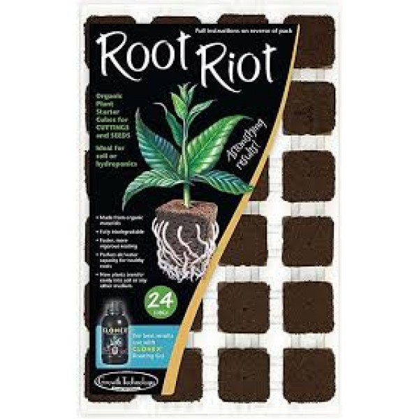Root Riot Growth Technology Seed Tray - 24 CUBES (31 X 19 CM)